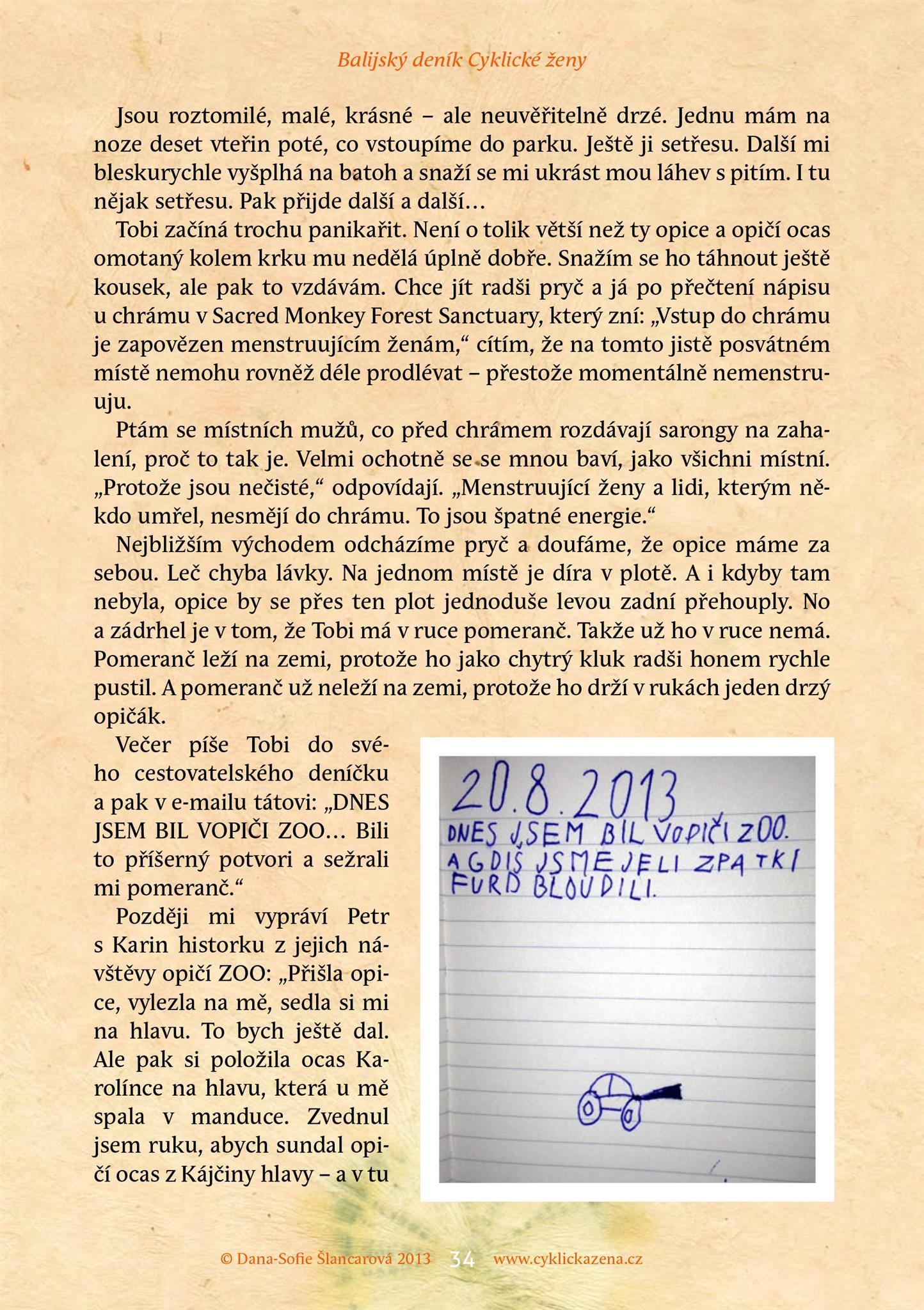 Balijský deník Cyklické ženy, str. 34