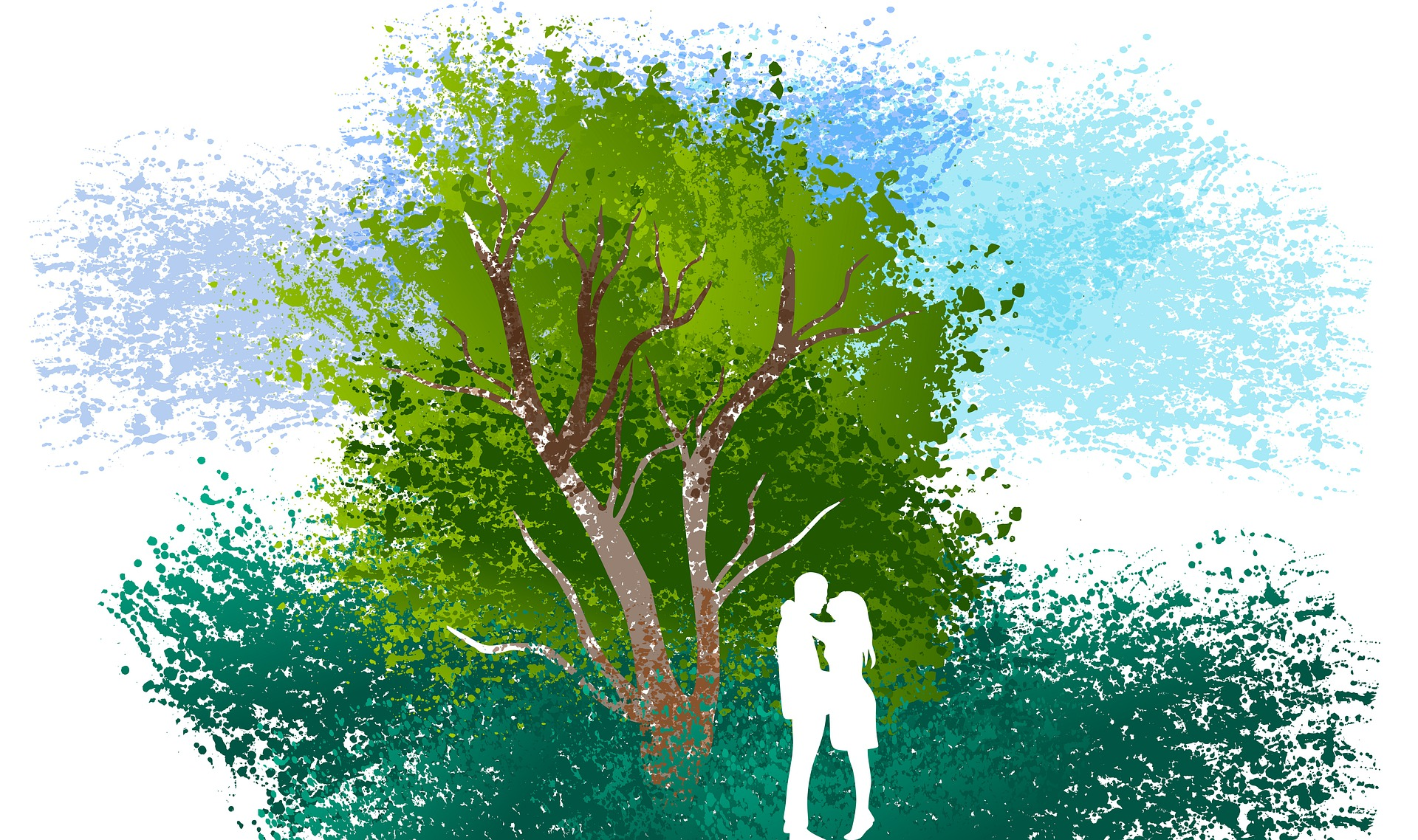 Žena a muž u stromu